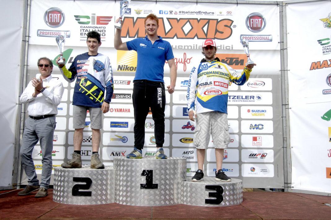PROGETTO ENDURO 2016 il podio di Firenzuola