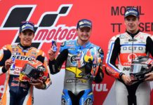 MOTO GP ASSEN, il podio, Miller, Marquez, Redding