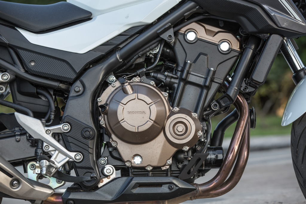 il bicilindrico Honda da 471 cc della CB500F