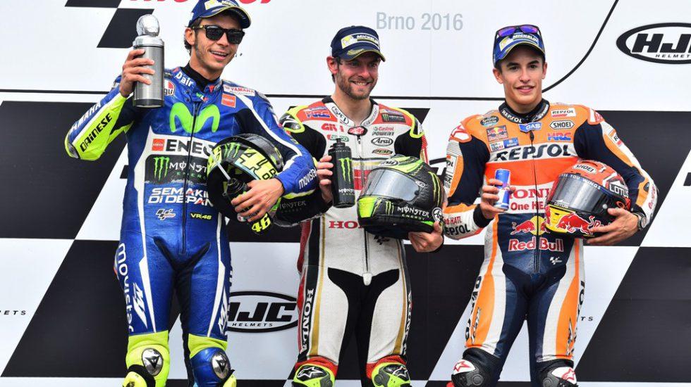 il podio della MotoGP a Brno