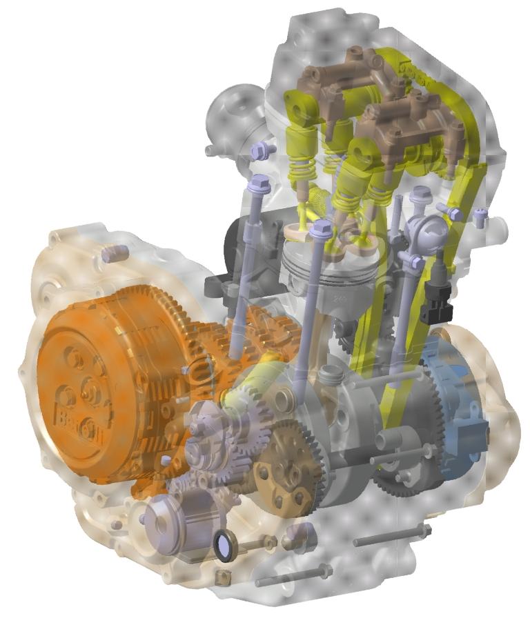il monocilindrico della Benelli 251, bialbero con contralbero