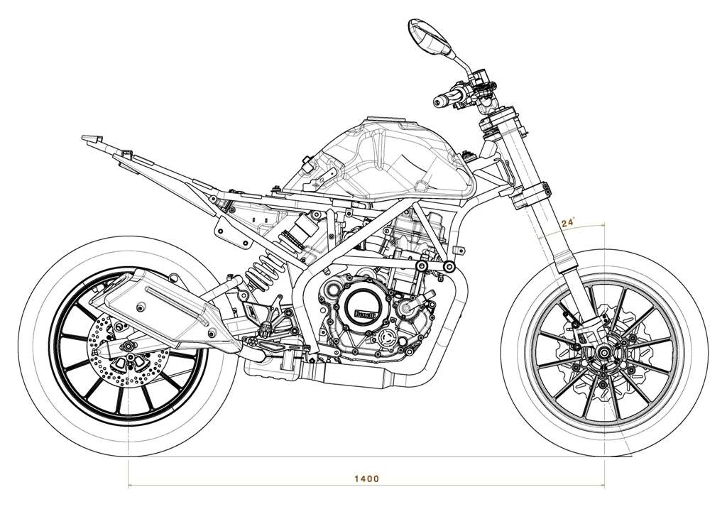 Benelli 251, lo chassis ketch