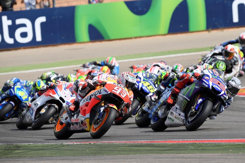 la partenza ad Aragon della motogp