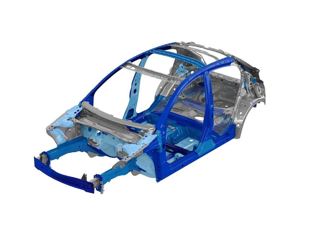 Mazda 2,,le zone high tensile di rigidità