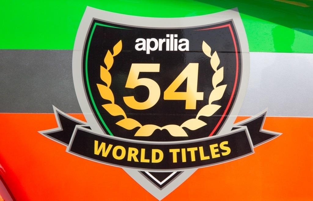 aprilia 54 titoli mondiali