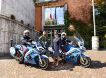 la polizia stradale di Milano con le FJR1300