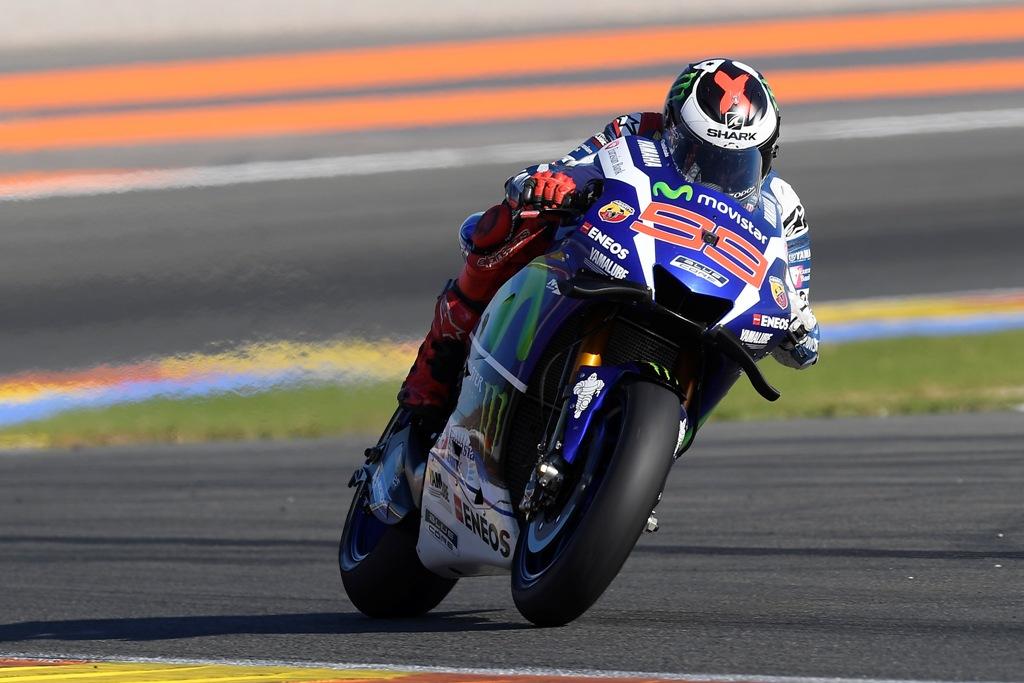 jorge lorenzo a valencia nell'ultimo GP della stagione 2016