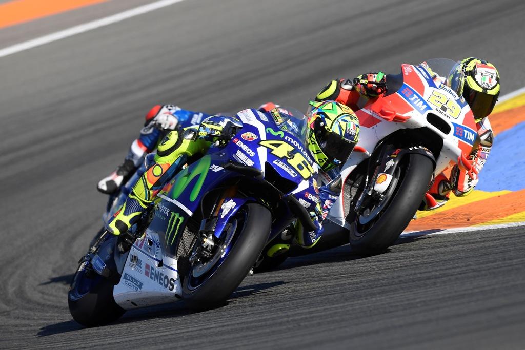MotoGP 2016, Valentino Rossi, quarto in spagna all'ultima gara 2016