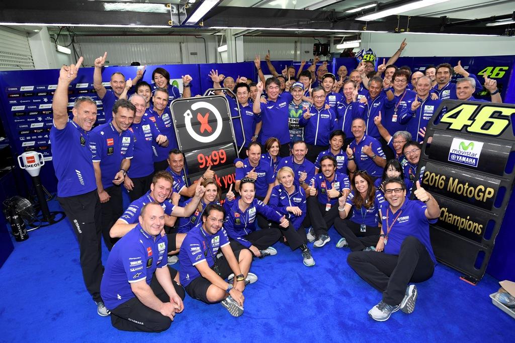 motogp 2016, il team Yamaha al completo