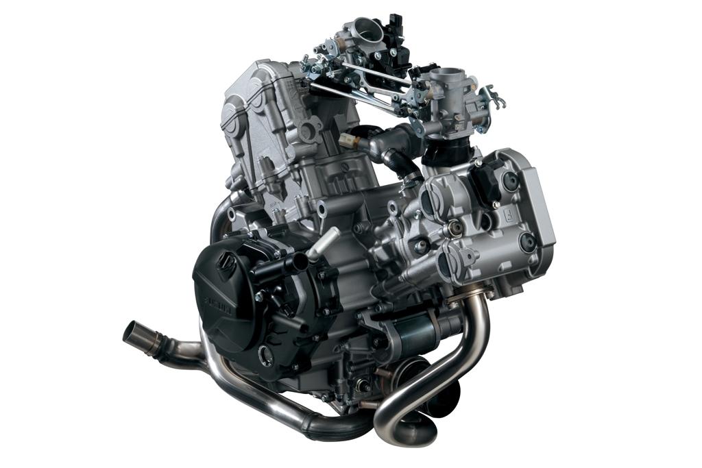 il bicilindrico della SV650 ABS, un V di 90°
